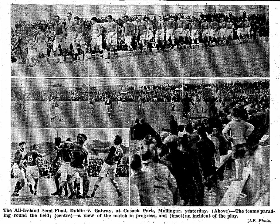 Cusack Park, Mullingar, Co. Westmeath on August 20, 1933