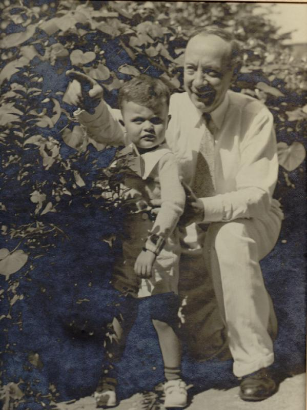 Christopher J. Murray and Grandson Jack Murray