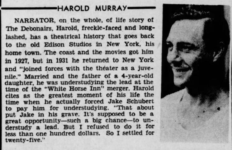 Harry Murray / Harold Murray / The Debonairs