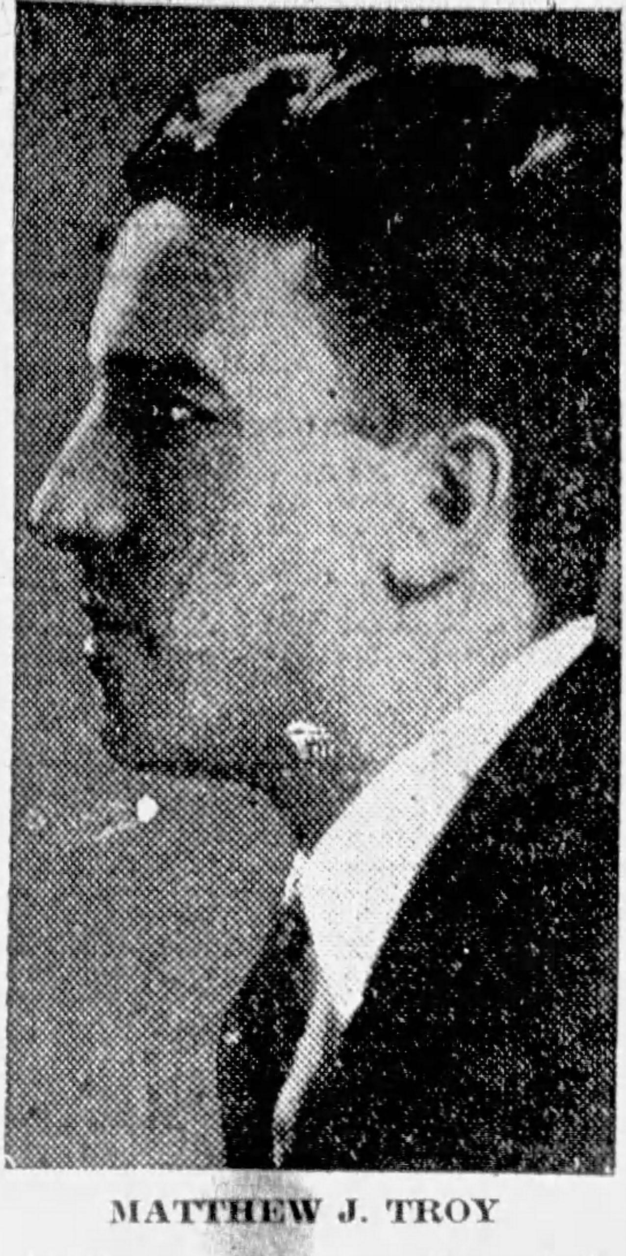 Matthew J. Troy - United Irish Counties - 1926